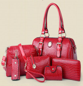 4fae1b451196 China Top Quality Set Bags Stones Pattern 6PCS Fashion Handbag ...