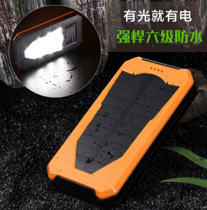 High Capacity Dual USB Portable Mobile Phone Solar Charger 12000mAh