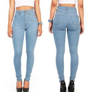 China High Waist Women Cotton Jean Pants Stretch Denim Jeans
