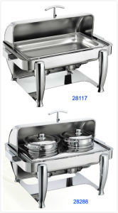 Full Size Hydraulic Roll-Top Chafing Dish Set with Casted Alloy Legs (28117/28288) pictures & photos