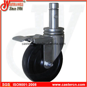 5 Inch Indoor Scaffold Caster with Round Stem and Ring pictures & photos