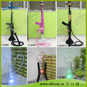 High Grade Clear Glass Hookahs with Colored LED Light Eh-0138