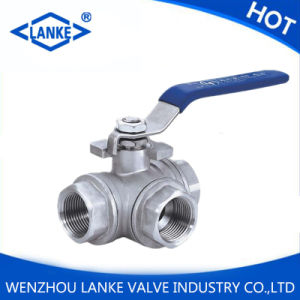 Stainless Steel Three Way Ball Valve with 1000wog