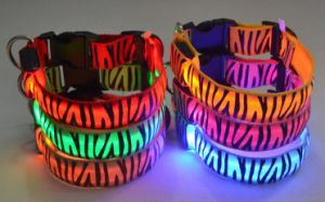 High Quality LED Flashing Dog Collar for Christmas with Metal Buckle Pet Collars & Leashes pictures & photos