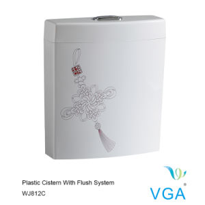 Toilet Plastic Cistern with Tank Fittings Wj812c