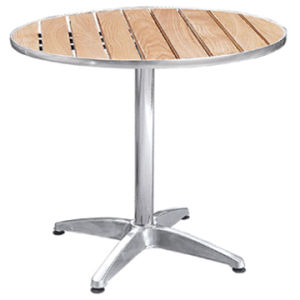 Outdoor Aluminum Wooden Table (DT-06270S5) pictures & photos