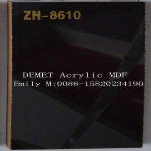 1220*2440*18mm Black Demet Acrylic MDF (ZH-8610) pictures & photos