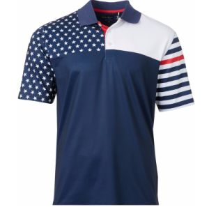 China Men S Fashionable Sublimation Printed 100 Polyester Polo