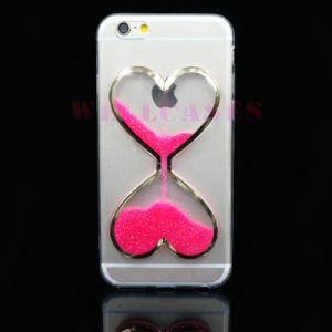 Fluorescent Glitter Powder Sandglass/Hourglass Clock Quicksand Phone Cover/Case