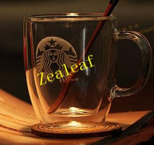China Zl01224 Double Wall Glass Coffee Mugs Starbucks Coffee Mugs