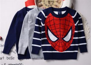 T1196 2015 New Design Fashion Knitting Pure Cotton Long Sleeve Pullover Sweater for 2-7 Years Old Boys Clothes pictures & photos