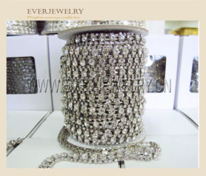 2015 Hot Selling High Quality Roll Colour Brass 3mm Close Glass Crystal Rhinestone Cup Chain pictures & photos