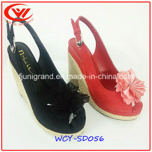 High Hedge Ladies Fancy Genuine Leather Slipper Sandals pictures & photos