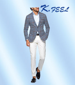 342731f7de00 China 2016 Fashion New Blue Check Fitted Suit Jacket for Men - China Blazers,  Mens Casual Blazers