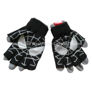 Kids Cute Knitted Gloves with Printing