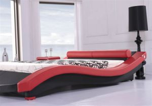 China italian new model modern bed china leather bed bedroom