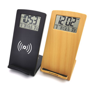 Wireless Charge Alarm Clock Calendar Temperature Thermometer