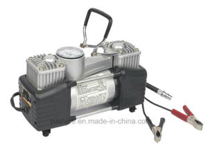 Heavy Duty Double Cylinder Car Air Compressor with Metal Body pictures & photos