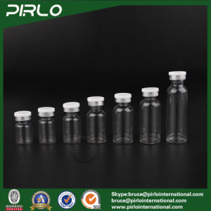 3ml 5ml 10ml 15ml 20ml 25ml Clear Pharmaceutical Glass Bottle & Flip off Cap, Clear Medicine Bottle, Glass Serum Vial pictures & photos