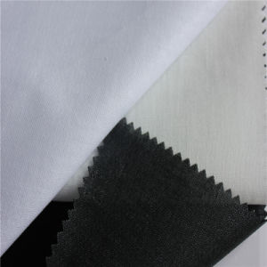 110GSM Cotton Buckram Collar Cuff Fusing Fabric Shirt Interlining pictures & photos