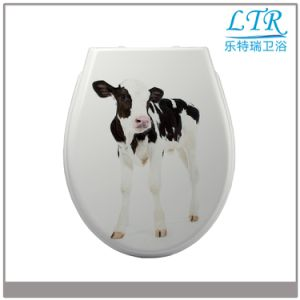 European Standard Top Fixing Printed Toilet Seat Cover