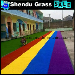 Multicolor Synthetic Turf Grass 30mm with Best Price pictures & photos