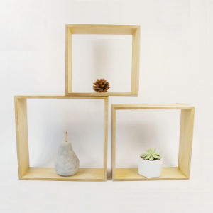 Wooden Shadow Box Wall Display Shelf