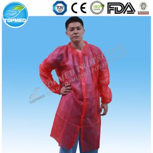 White Lab Coats for Sale, Dental Lab Coats with Cuffs pictures & photos