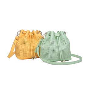 Fashion Hollow out Shoulder Bucket Bag for Women (MBNO043009)
