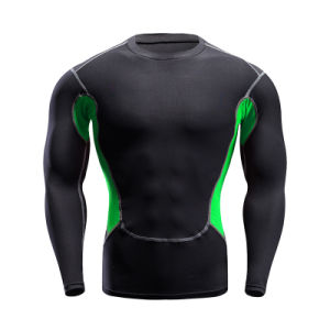 Customized Color Man′s Long Sleeve Gym Training Clothes Sportswear