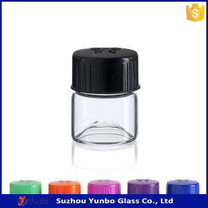 Custom Borosilicate Tube Screw Neck Cosmetic Vials 1 DRAM Glass Vials
