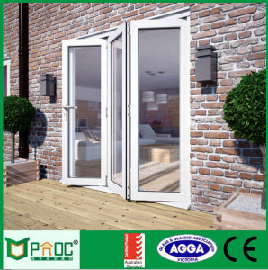 Double Glazing Aluminium Profile Folding Door with Made by Factory pictures & photos