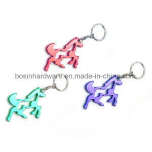 Cute Pony Shaped Metal Bottle Opener Keychain pictures & photos