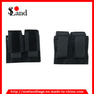 Black Tactical Double Pistol Mag Pouch