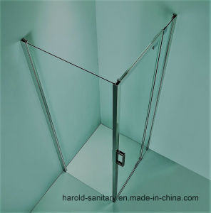 Hr-012 Single Hinge Swing Extention Glass to Glass Shower Screen pictures & photos