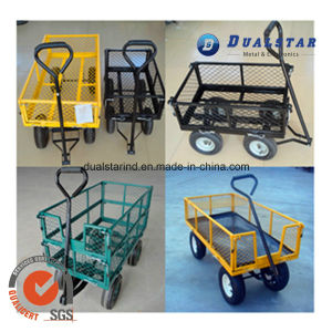 Multicolor Metal Garden Handing Cart