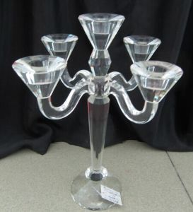 Crystal Candle Holder with Five Poster for Holiday Home Decorarion pictures & photos