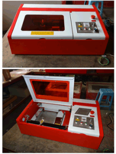 Hx-3040 Laser Stamp Making Machine Portable Mini Laser Cutter pictures & photos