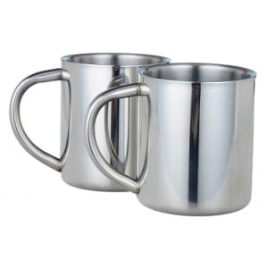 18-8 Stainless Steel Coffee Cups BPA Free Tea Mugs with Handle 350ml pictures & photos