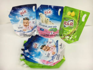 Plastic Packaging Bag, Liquid Detergent Stand up Spout Pouch