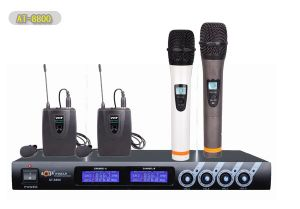 PRO VHF Cordless Microphone System with Four Channels