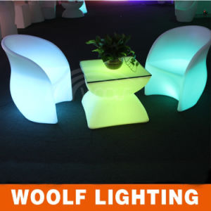Plastic Club Illuminated Chair with Rechargeable LED Light