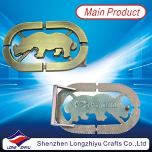Hollow out Metal Custom Cowboy Shiny Bronze Belt Buckles for Men Decoration (LZY201300002) pictures & photos