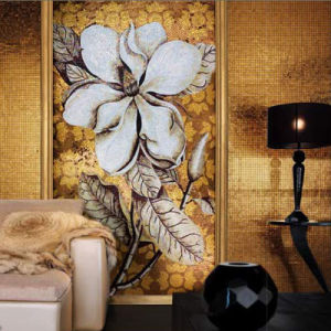 Flower Painting Art Picture Mosaic Wall Building House Decoration Mosaic Wall Tiles