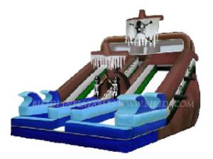 Pirate Ship Inflatable Water Slide (B4009) pictures & photos