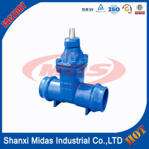 High Pressure 4 Inch DIN F4 Ductile Cast Iron Ggg50 Resilient Seated Nrs Sluice Gate Valve pictures & photos