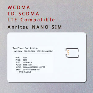 WCDMA TD-SCDMA Lte Phone Nano SIM Card 3G 4G Test Card for Anritsu