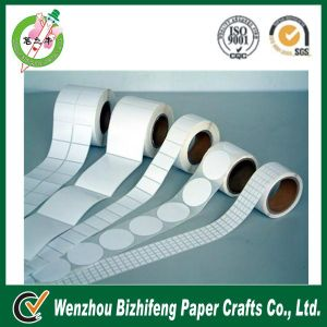 White Color Adhesive Sticker in Roll