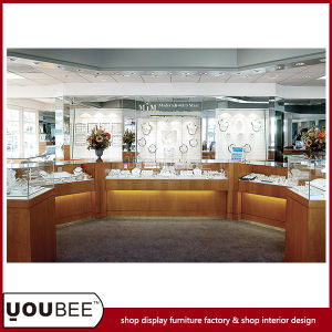 Wooden Jewelry Display Showcases for Jewelry Shop Interior Design