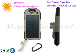 2 USB Port 6000mAh Solar Charged Power Bank for Laptop pictures & photos